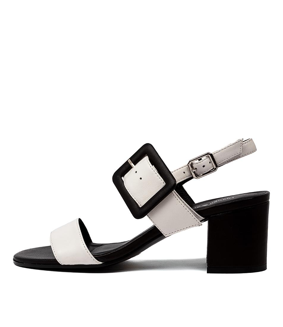 Buy Django & Juliette Rico Dj White Black Heeled Sandals online with free shipping