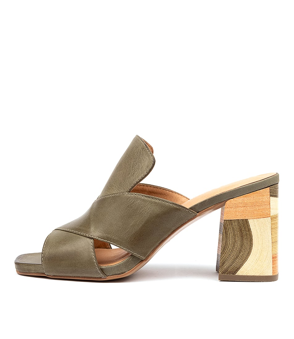 Buy Django & Juliette Ross Dj Khaki Heeled Sandals online with free shipping