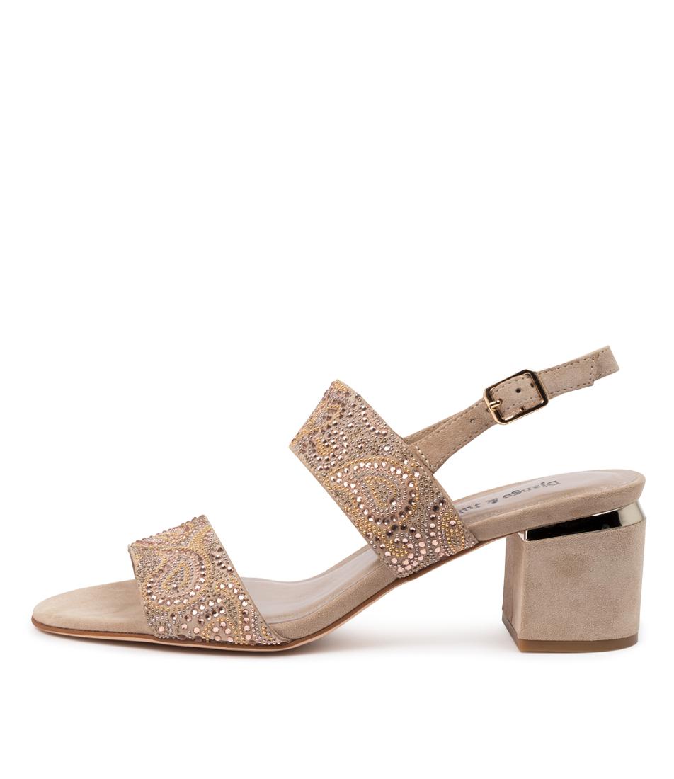 Buy Django & Juliette Saam Dj Champagne Heeled Sandals online with free shipping