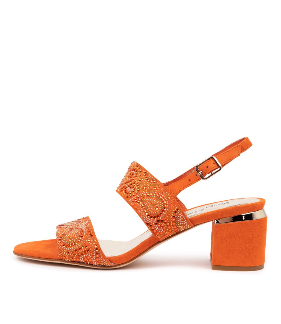 Buy Django & Juliette Saam Dj Orange Heeled Sandals online with free shipping