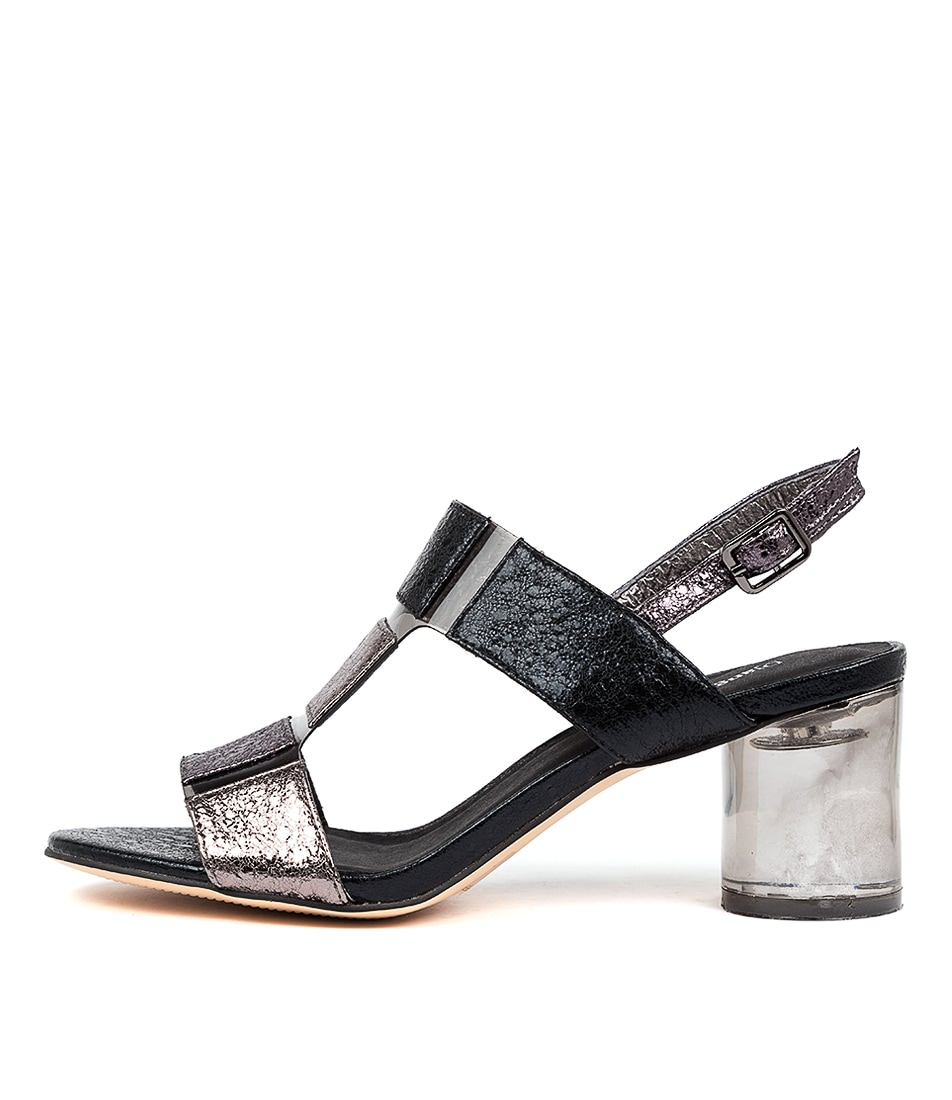 Buy Django & Juliette Seymour Dj Pewter Multi Smoke Heeled Sandals online with free shipping