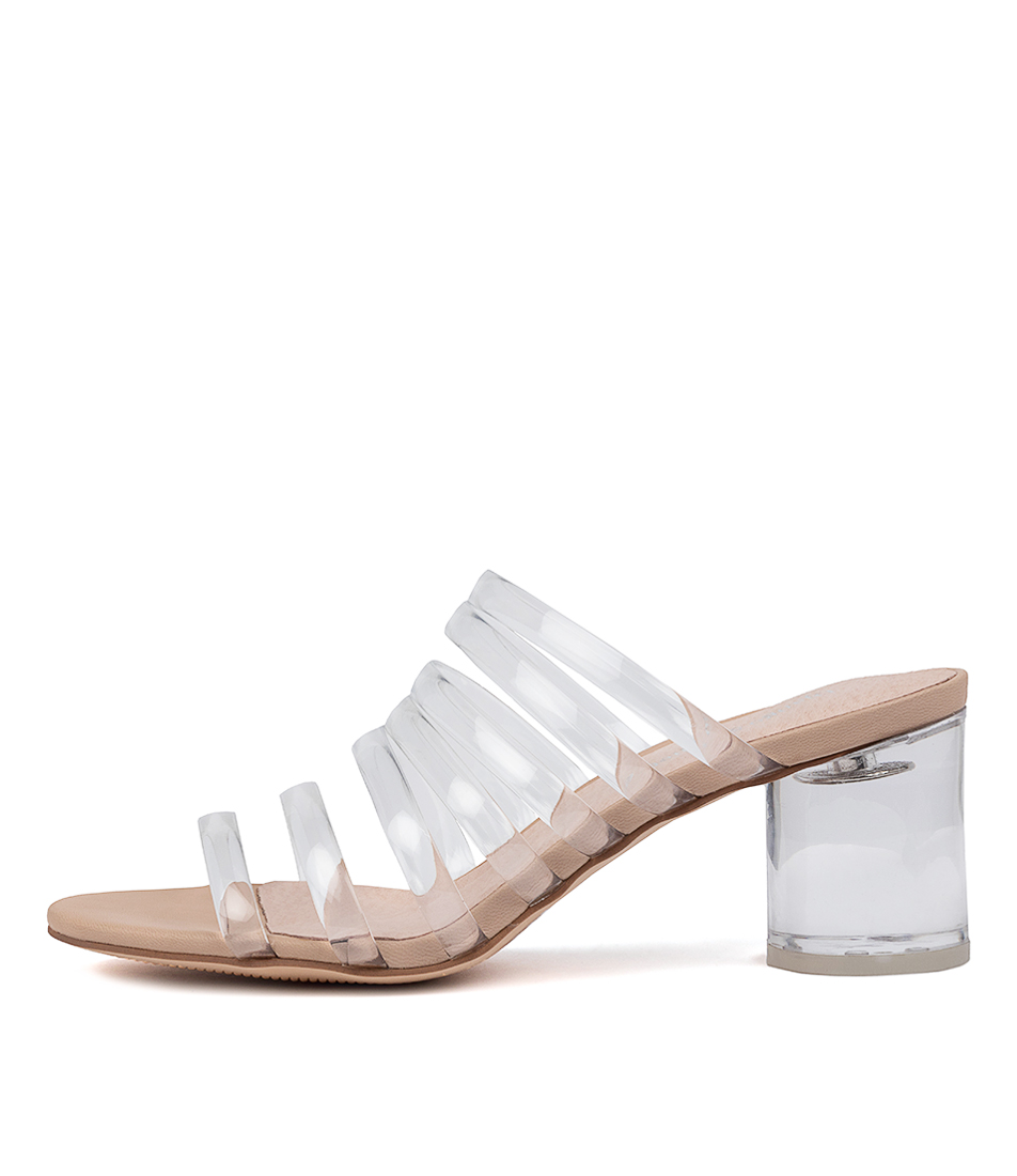 Buy Django & Juliette Shafter Dj Clear Nude Heeled Sandals online with free shipping