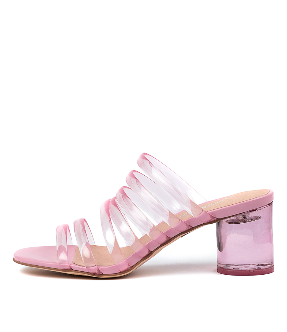 Buy Django & Juliette Shafter Dj Pink Pink Heeled Sandals online with free shipping