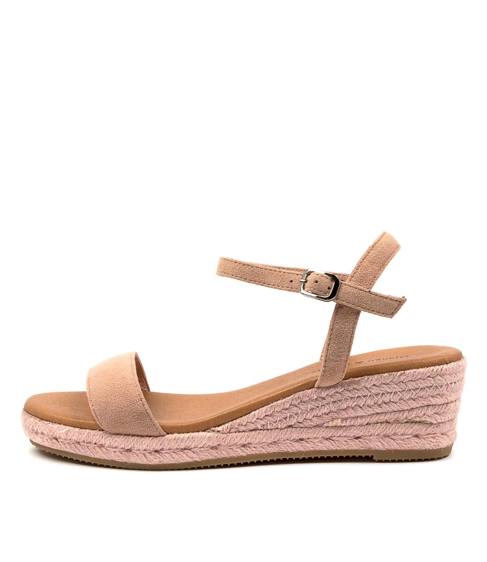 Buy Django & Juliette Shielay Dj Blush Blush Rope Heeled Sandals online with free shipping