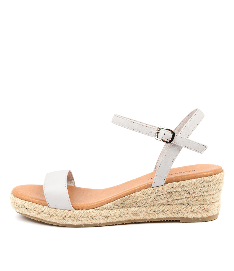Buy Django & Juliette Shielay Dj White Natural R Heeled Sandals online with free shipping