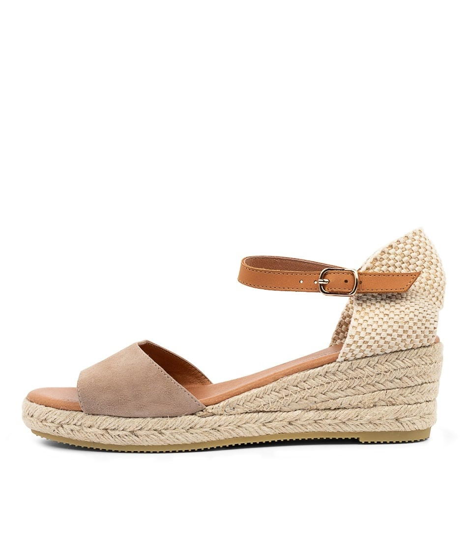 Buy Django & Juliette Suzy Dj Taupe Lt Tan Heeled Sandals online with free shipping