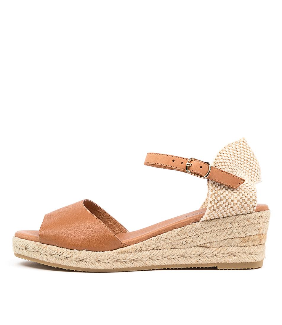 Buy Django & Juliette Suzy Dj Dk Tan Lt Tan Heeled Sandals online with free shipping
