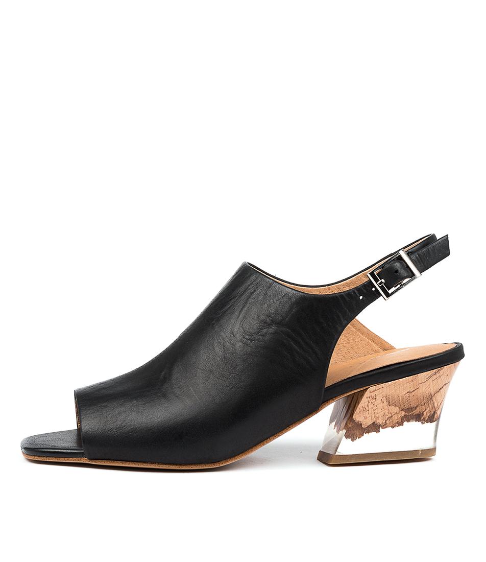 Buy Django & Juliette Sydell Dj Black Natural Heel Heeled Sandals online with free shipping