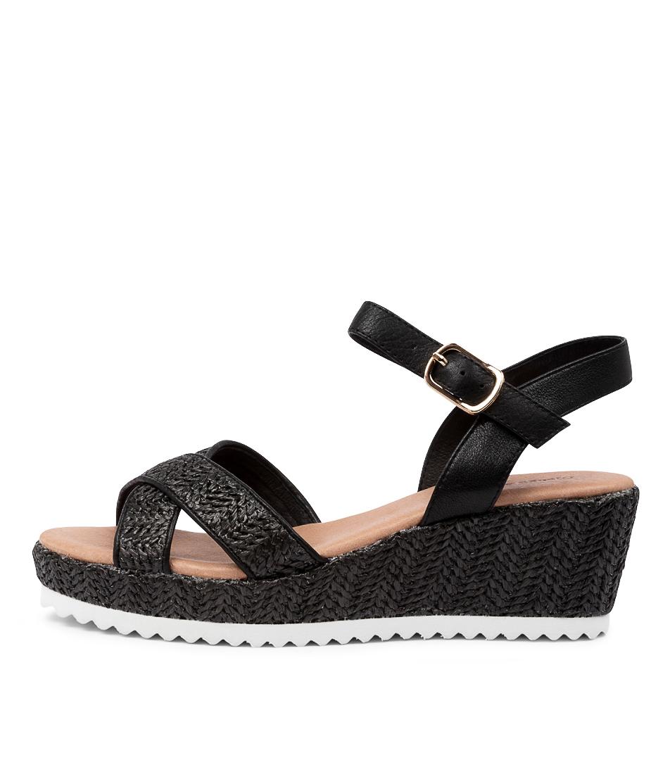 Buy Django & Juliette Sydni Dj Black Heeled Sandals online with free shipping