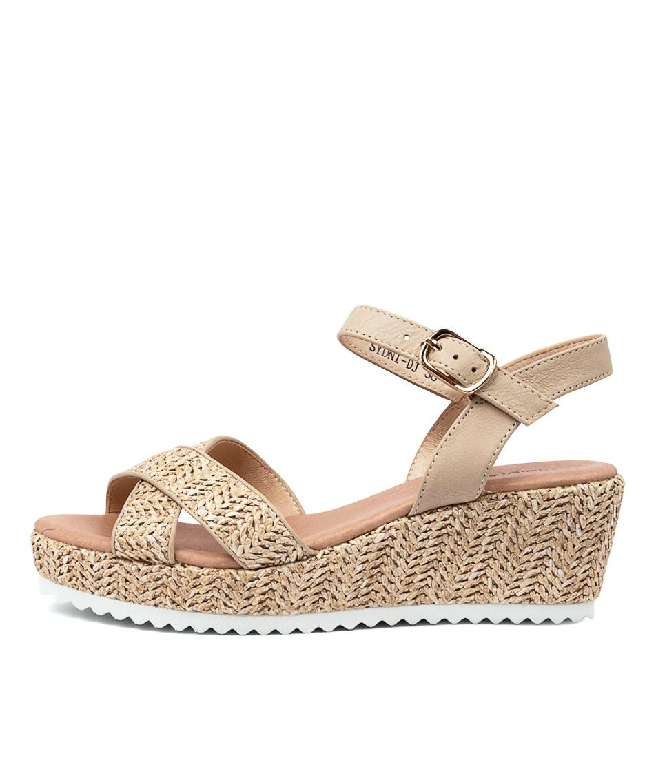 Buy Django & Juliette Sydni Dj Natural Heeled Sandals online with free shipping