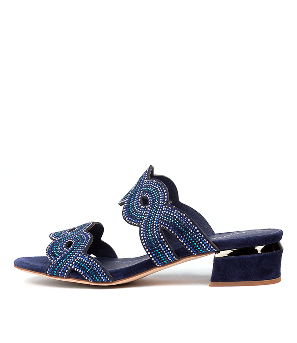 Buy Django & Juliette Thekla Dj Blue Multi Blue Heeled Sandals online with free shipping