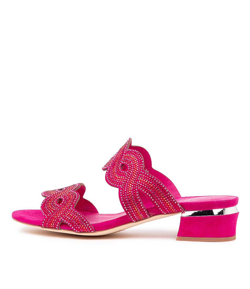 Buy Django & Juliette Thekla Dj Pink & Red Multi Hot Pink Heeled Sandals online with free shipping