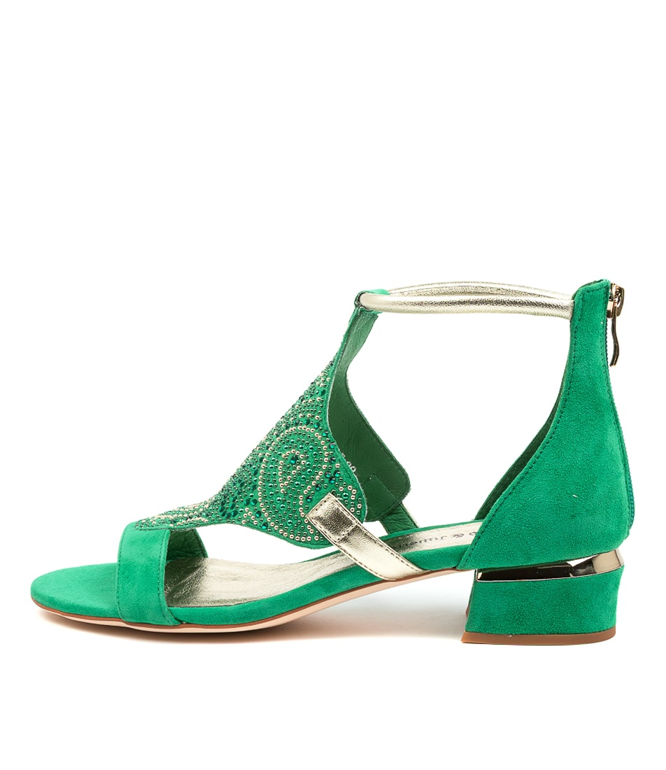 Buy Django & Juliette Tomika Dj Winter Green Heeled Sandals online with free shipping