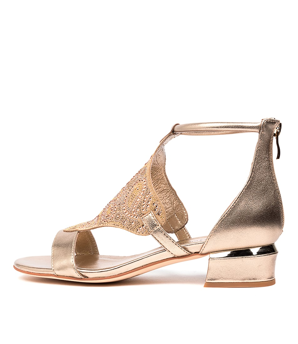 Buy Django & Juliette Tomika Dj Champagne Champagne Heeled Sandals online with free shipping
