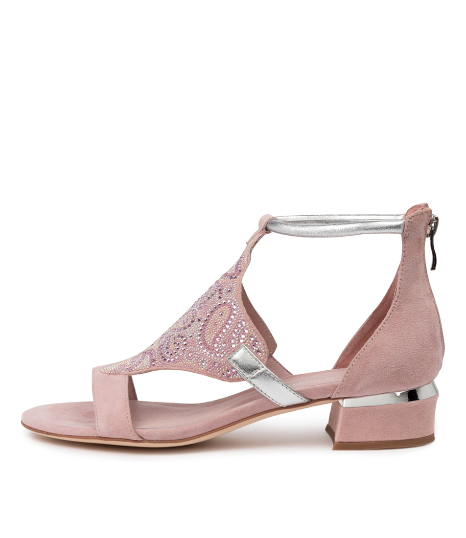 Buy Django & Juliette Tomika Dj Pink Silver Heeled Sandals online with free shipping