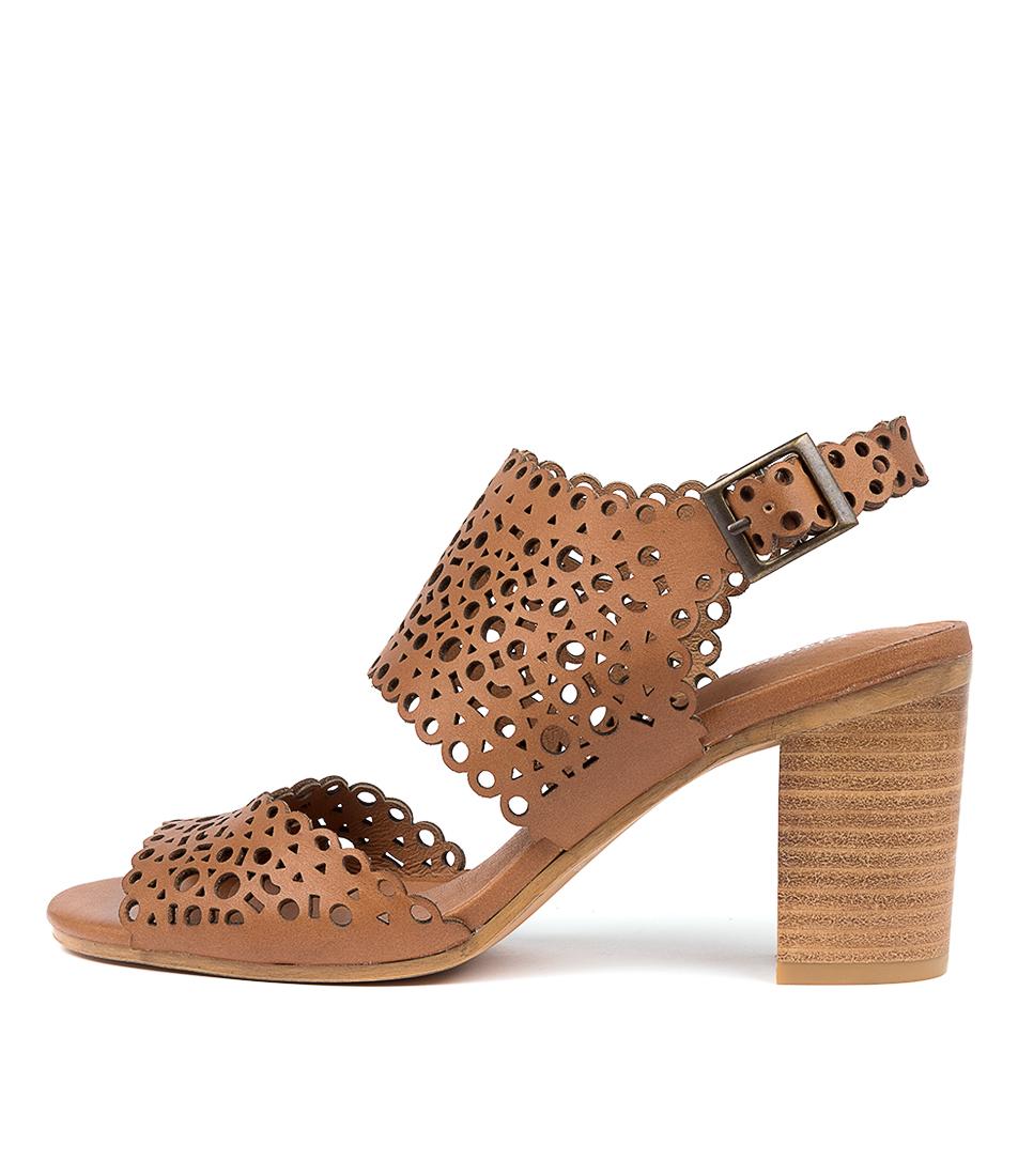 Buy Django & Juliette Venie Dj Dk Tan Heeled Sandals online with free shipping