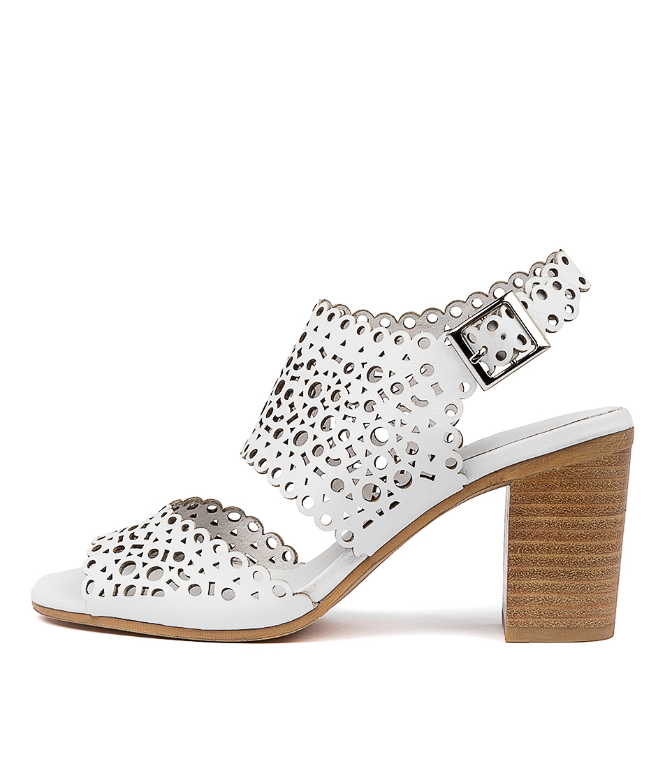 Buy Django & Juliette Venie Dj White Heeled Sandals online with free shipping