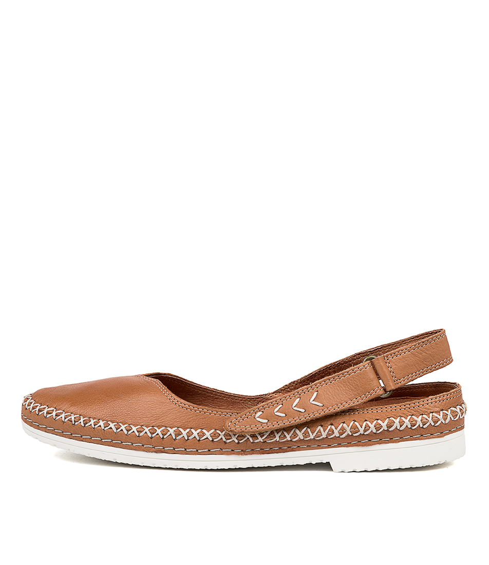 Buy Django & Juliette Vriston Dj Dk Tan Flats online with free shipping