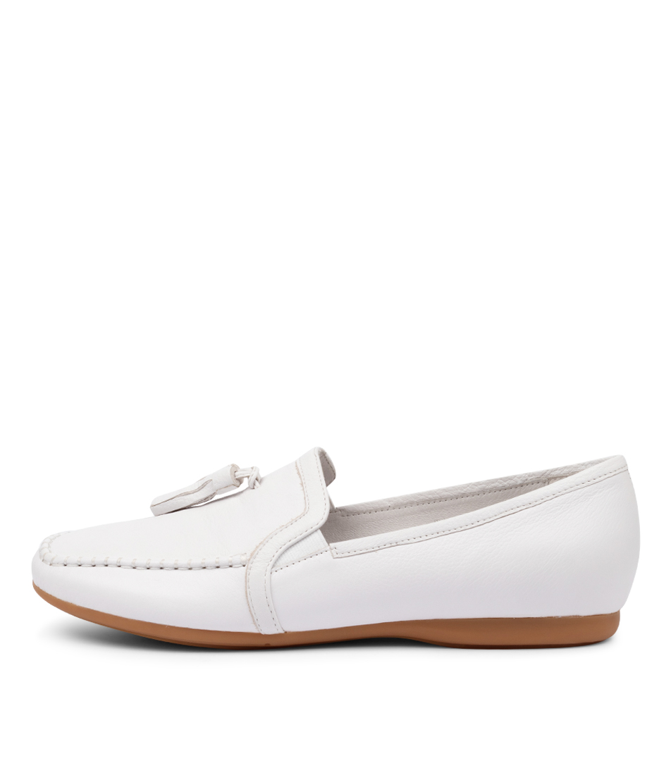 Buy Django & Juliette Waider Dj White Flats online with free shipping