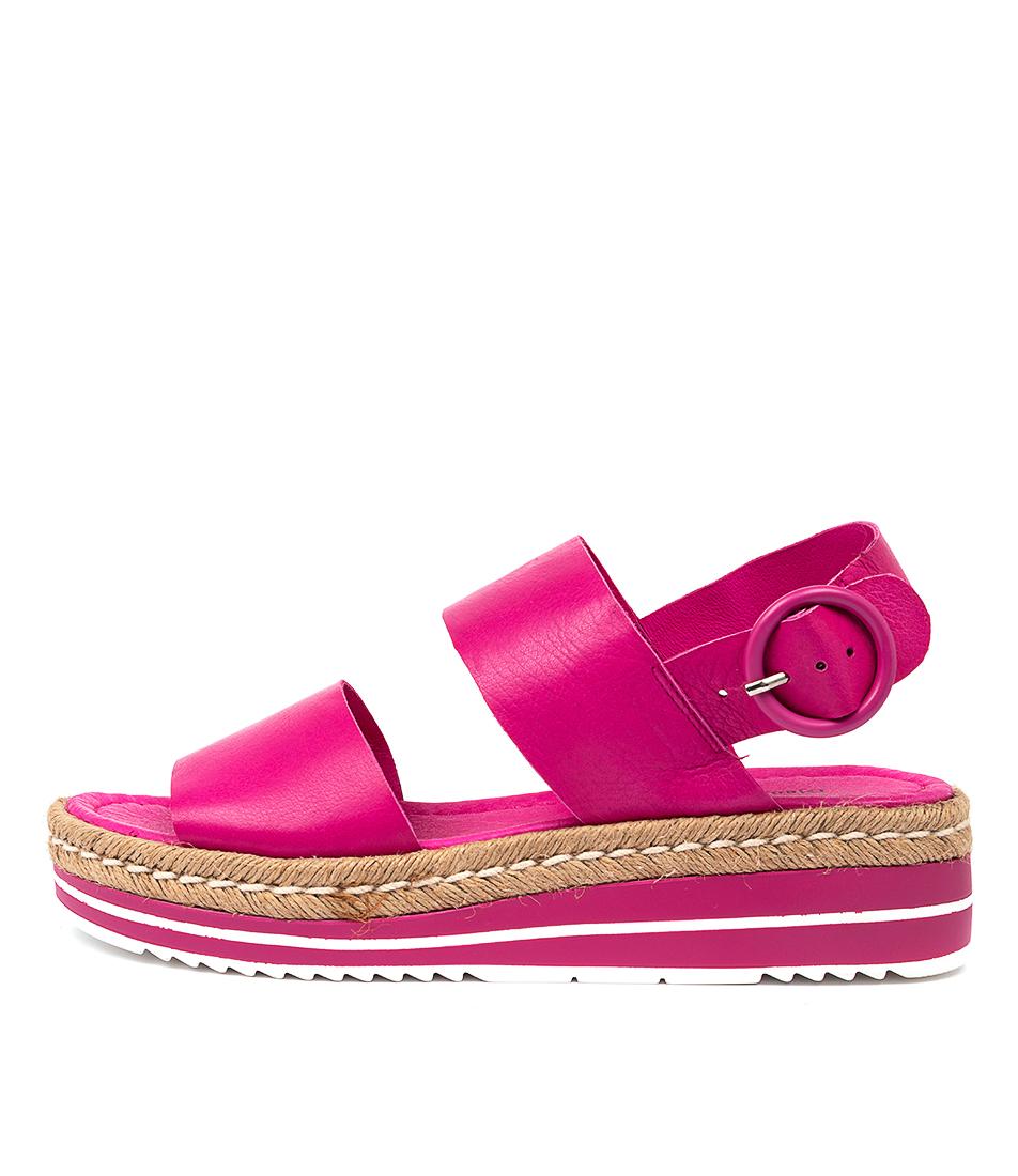 Buy Django & Juliette Atha Djl Fuchsia Flat Sandals online with free shipping
