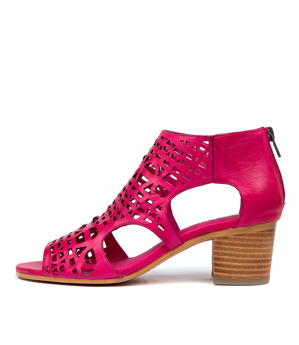 Buy Django & Juliette Boris Djl Fuchsia Heeled Sandals online with free shipping