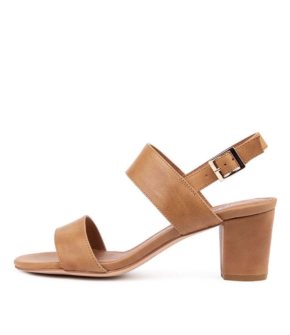 Buy Django & Juliette Calons Djl Tan Heeled Sandals online with free shipping