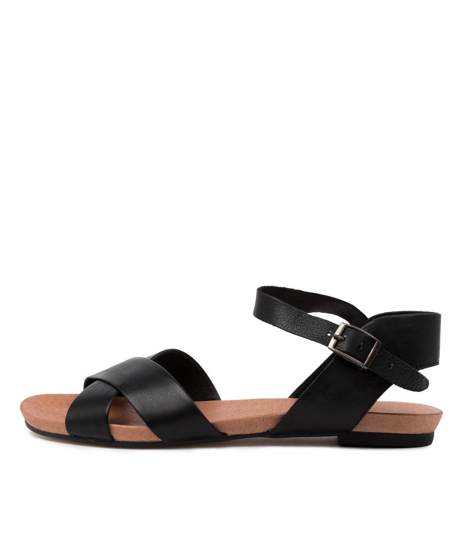 Buy Django & Juliette Jaylin Djl Black Flat Sandals online with free shipping