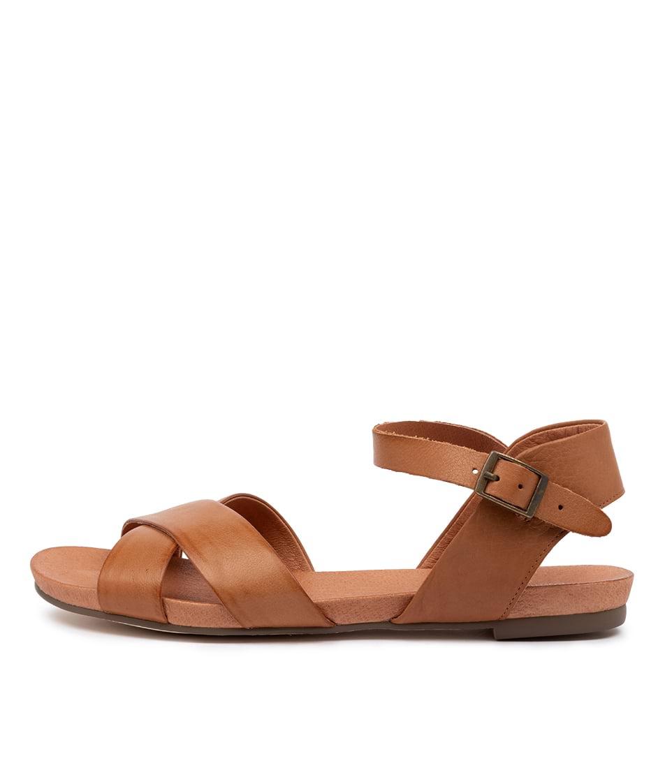 Buy Django & Juliette Jaylin Djl Dk Tan Flat Sandals online with free shipping