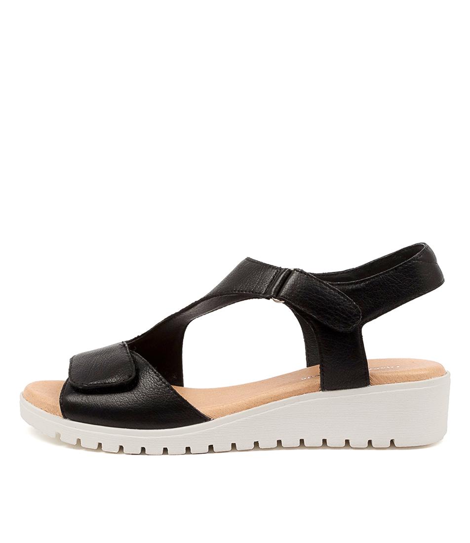 Buy Django & Juliette Maureen Dj Black White Sole Flat Sandals online with free shipping