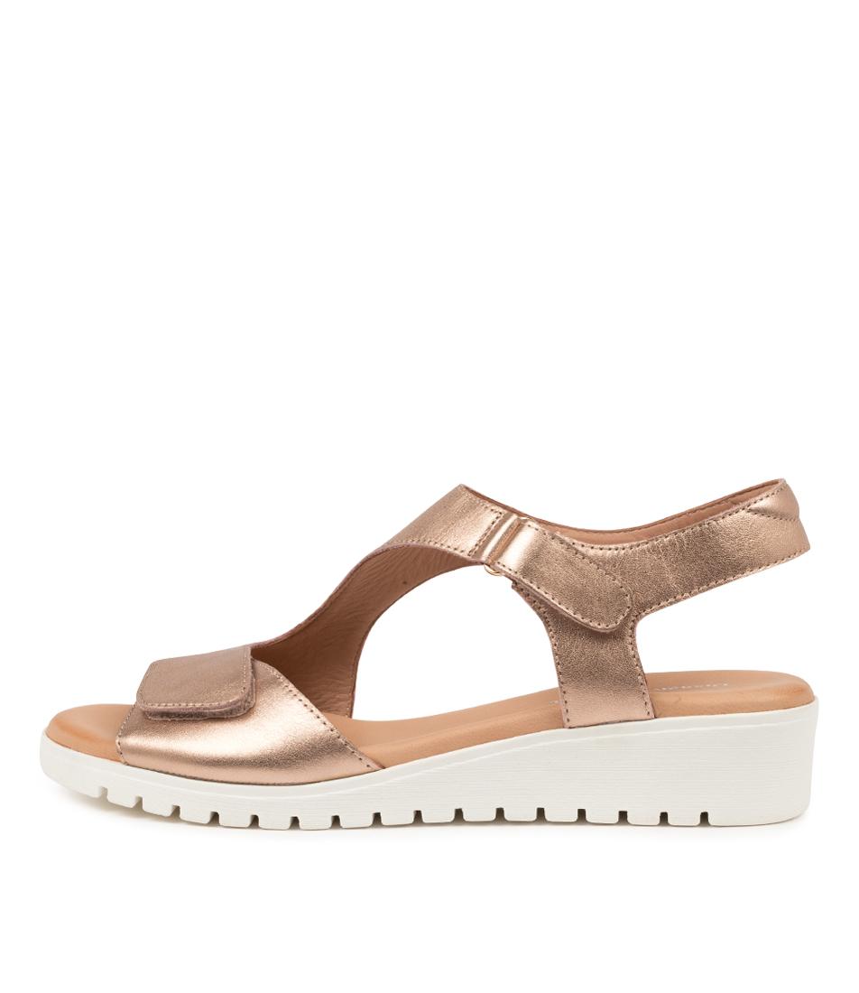 Buy Django & Juliette Maureen Dj Rose Gold White Sole Flat Sandals online with free shipping