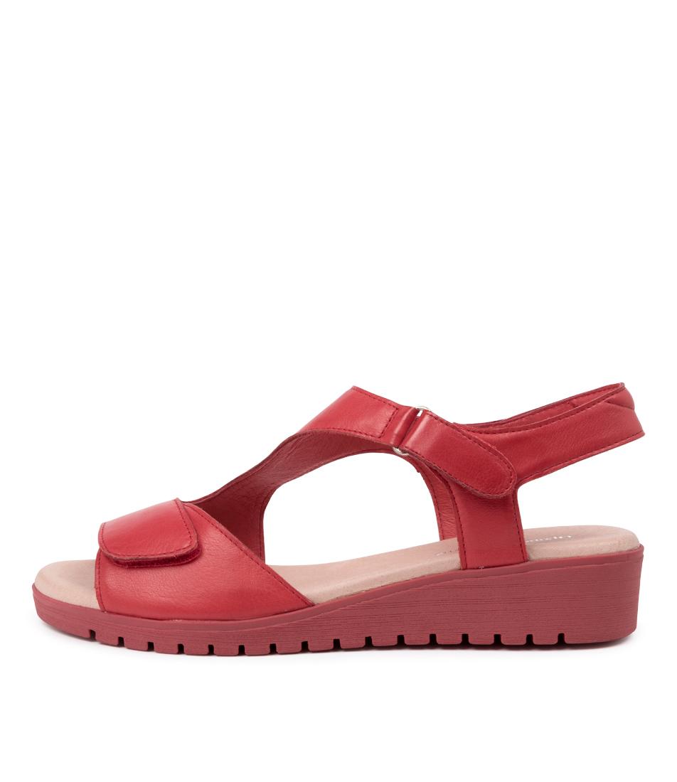 Buy Django & Juliette Maureen Dj Red Red Sole Flat Sandals online with free shipping