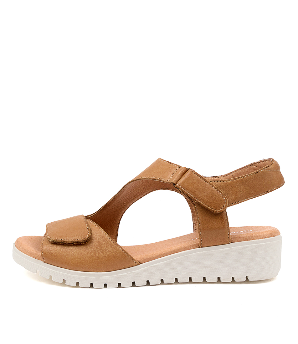 Buy Django & Juliette Maureen Dj Dk Tan White Sole Flat Sandals online with free shipping