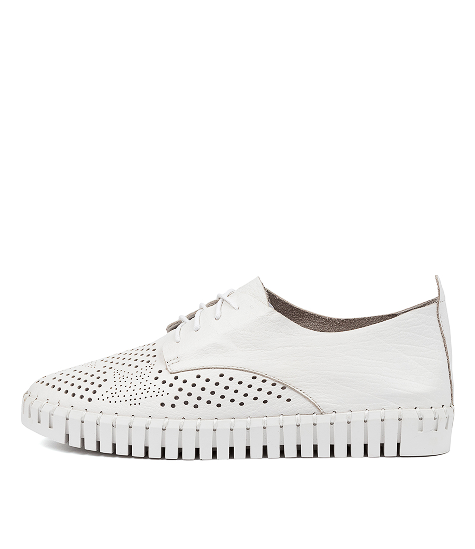 Buy Django & Juliette Hustonia Dj White White Sole Flats online with free shipping