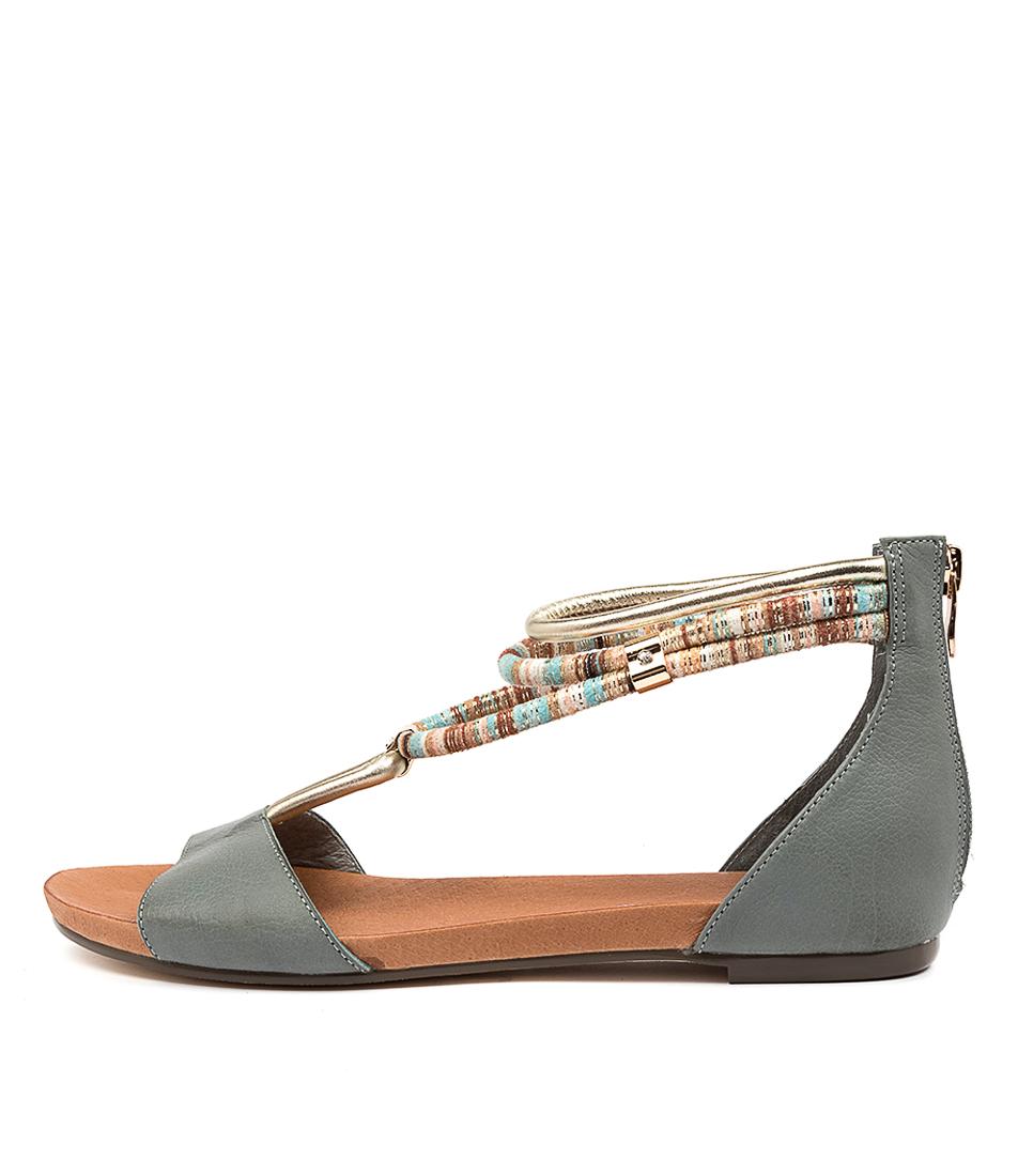 Buy Django & Juliette Jazmin Lrg Steel Flat Sandals online with free shipping