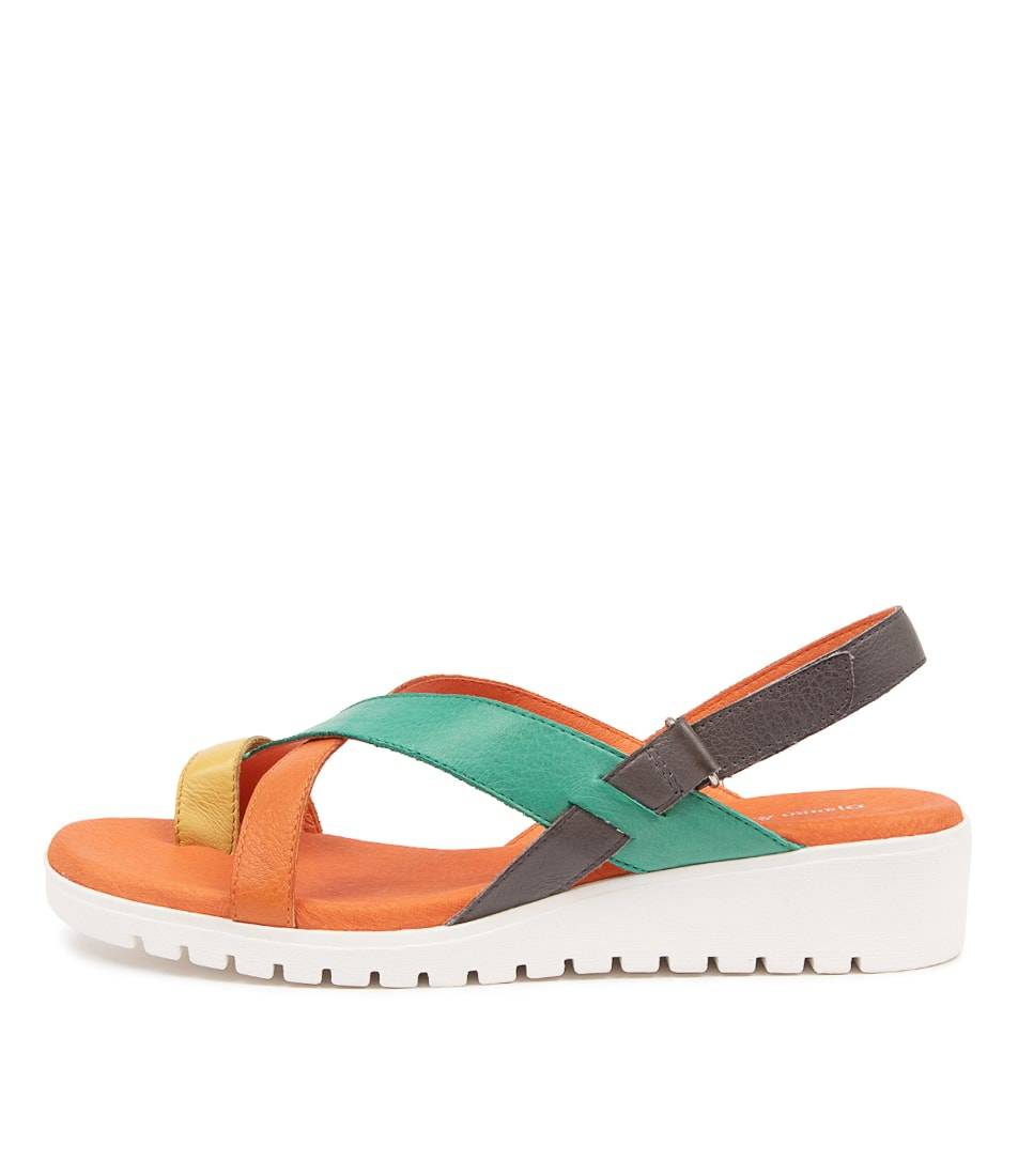Buy Django & Juliette Fronie Gmdj Bright Multi Flat Sandals online with free shipping