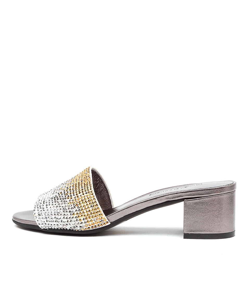 Buy Django & Juliette Aura Dj Gunmetal Heeled Sandals online with free shipping