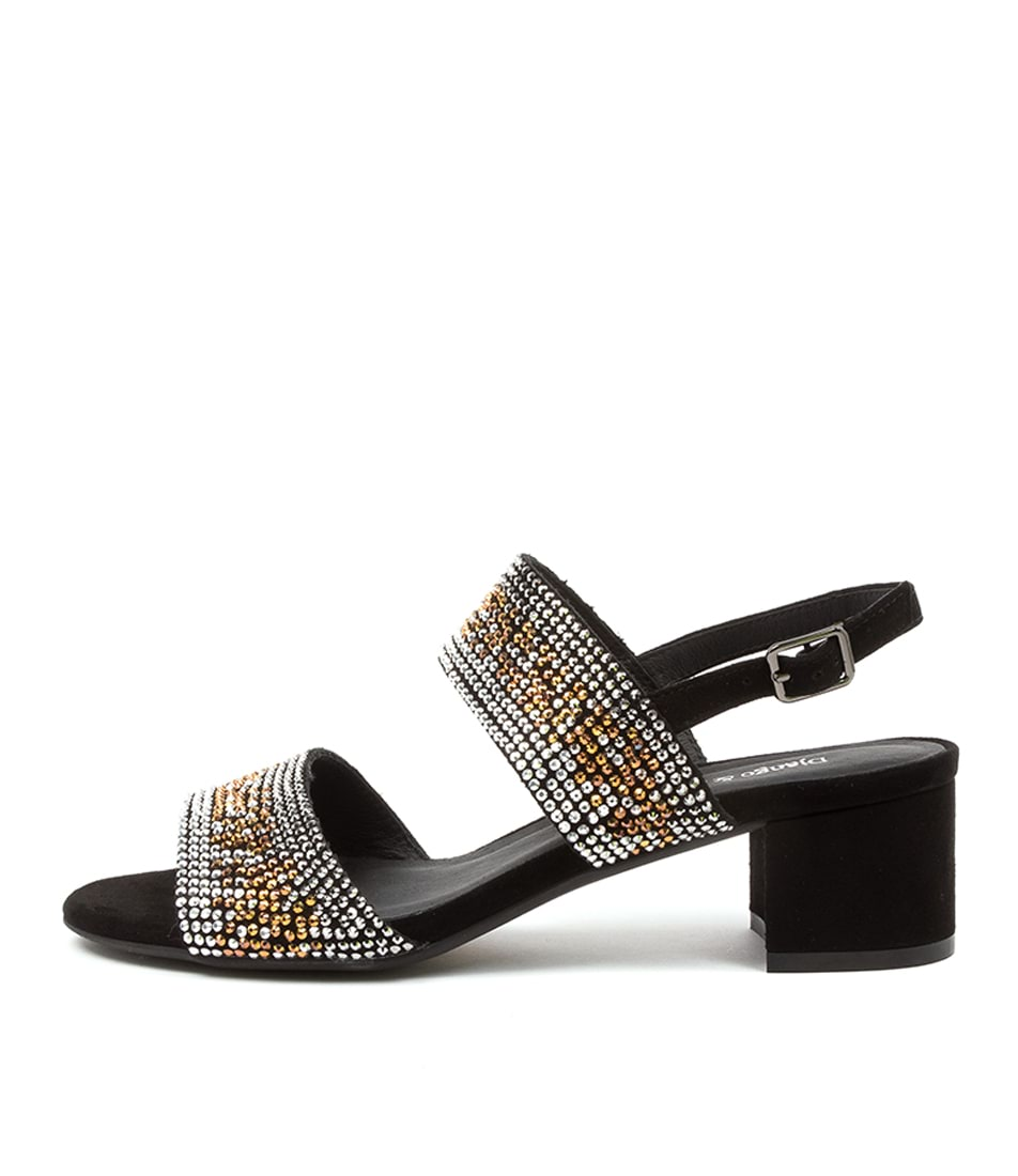 Buy Django & Juliette Aweso Dj Black Heeled Sandals online with free shipping