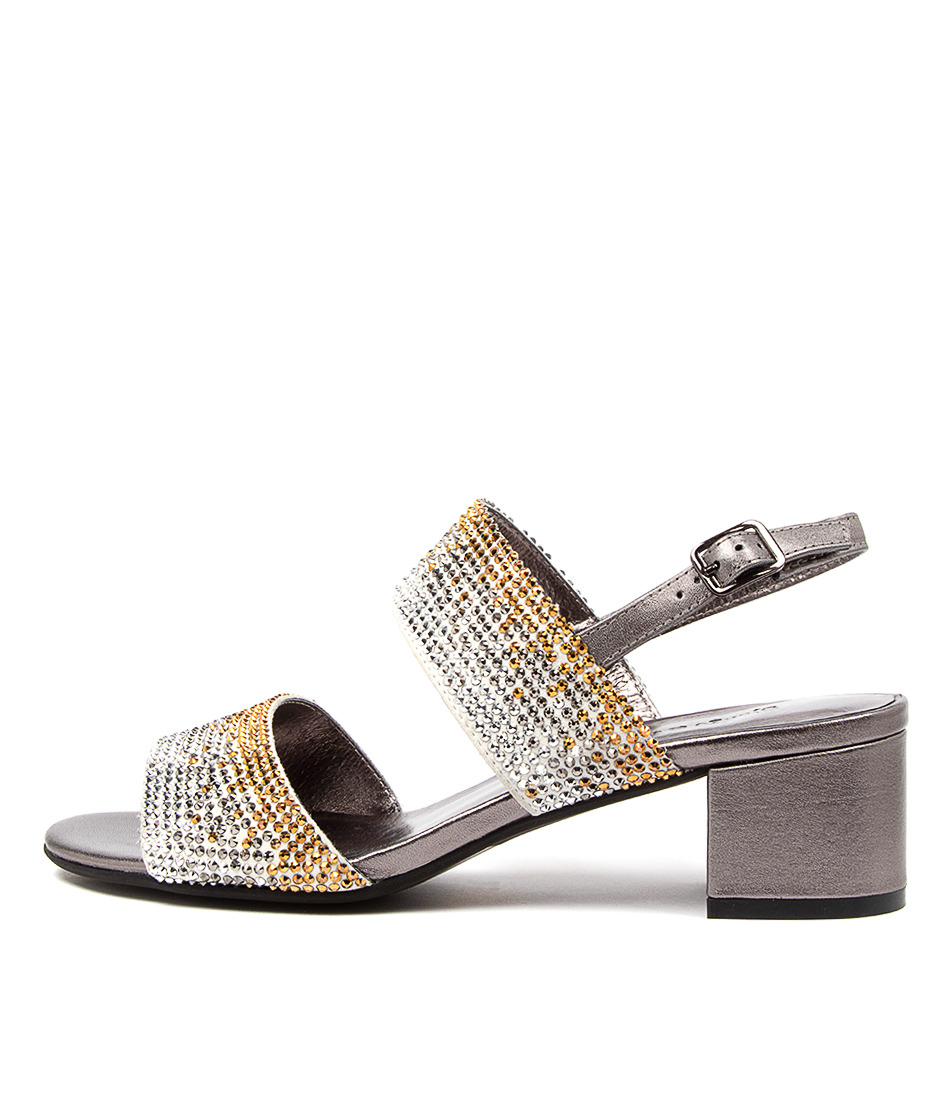 Buy Django & Juliette Aweso Dj Gunmetal Heeled Sandals online with free shipping