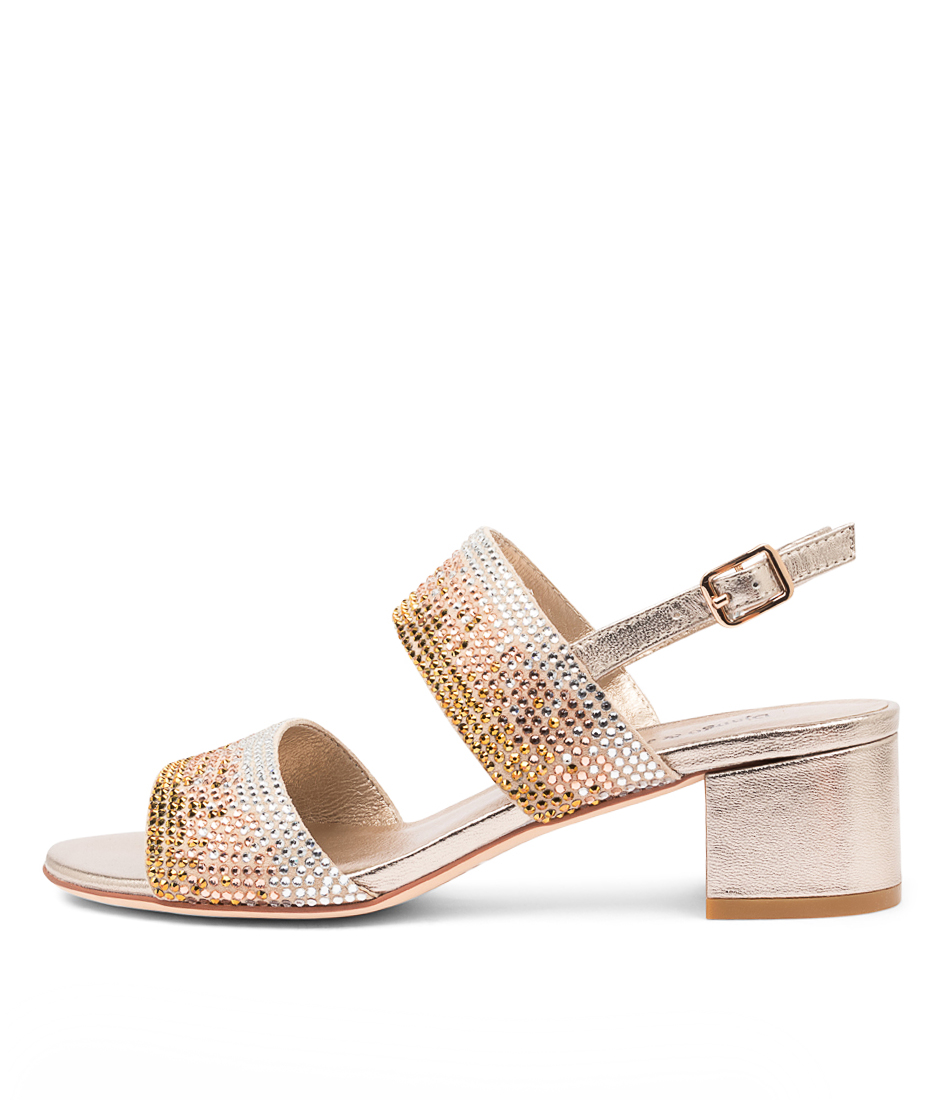 Buy Django & Juliette Aweso Dj New Champagne Heeled Sandals online with free shipping