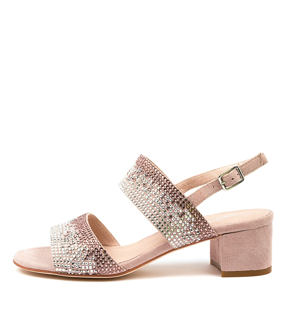 Buy Django & Juliette Aweso Dj Dusty Pink Heeled Sandals online with free shipping