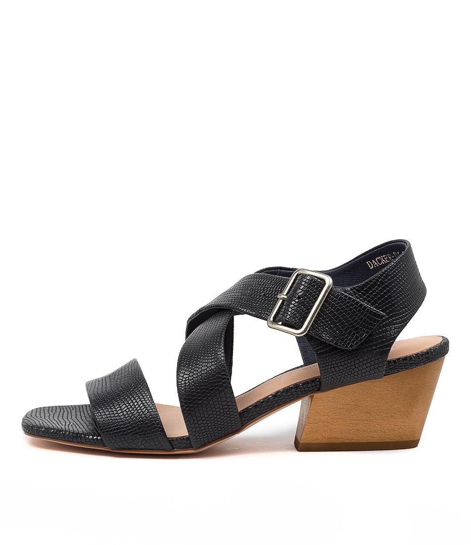 Buy Django & Juliette Dacker Dj Navy Heeled Sandals online with free shipping