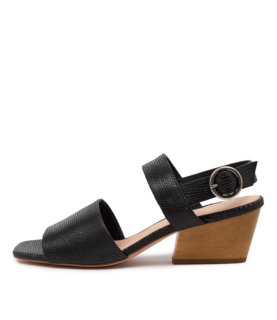 Buy Django & Juliette Dino Dj Black Heeled Sandals online with free shipping