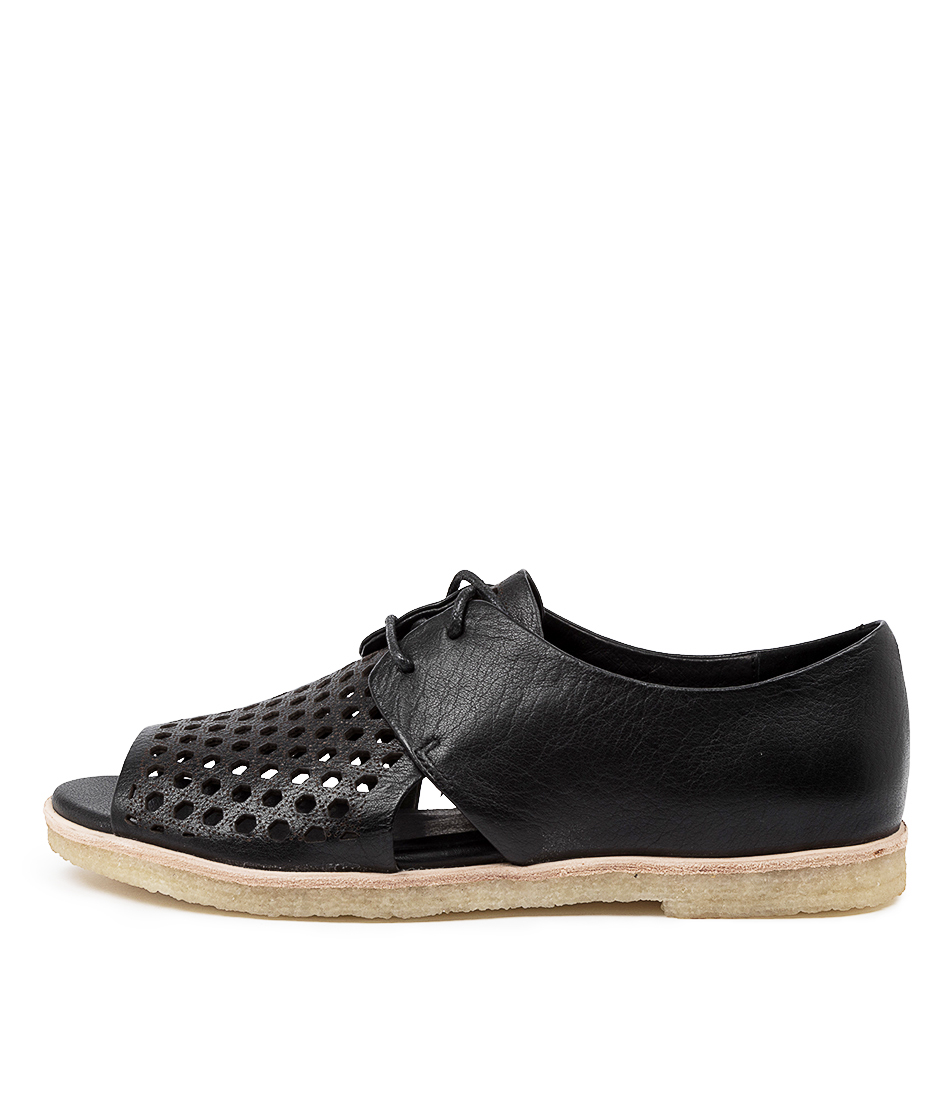 Buy Django & Juliette Jefa Dj Black Flat Sandals online with free shipping