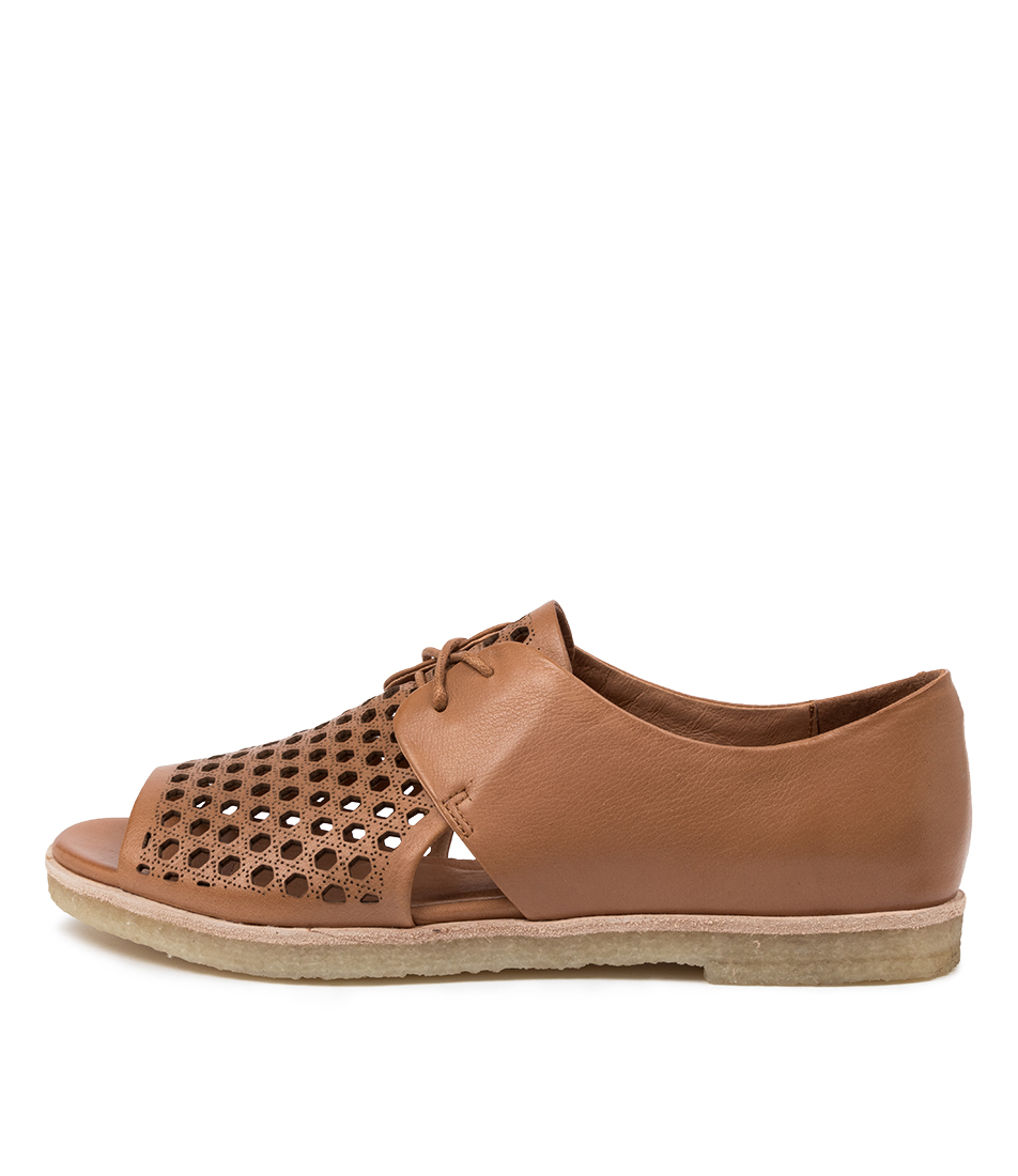 Buy Django & Juliette Jefa Dj Dk Tan Flat Sandals online with free shipping