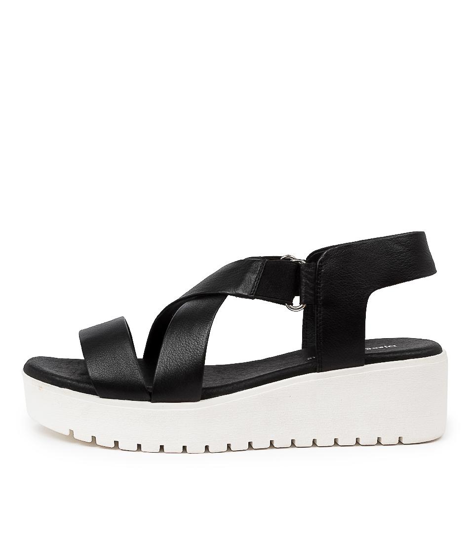 Buy Django & Juliette Oakley Dj Black White Sole Flat Sandals online with free shipping