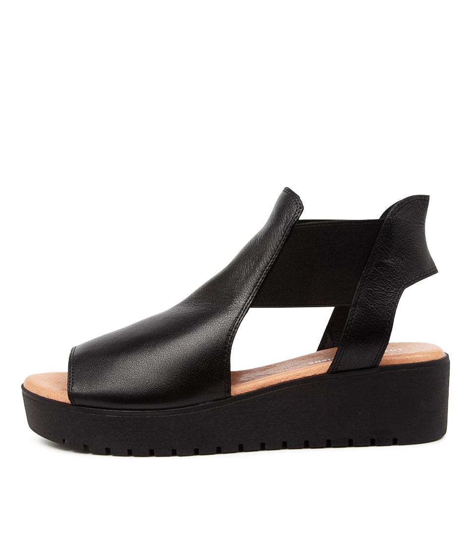 Buy Django & Juliette Ozie Dj Black Tan Flat Sandals online with free shipping