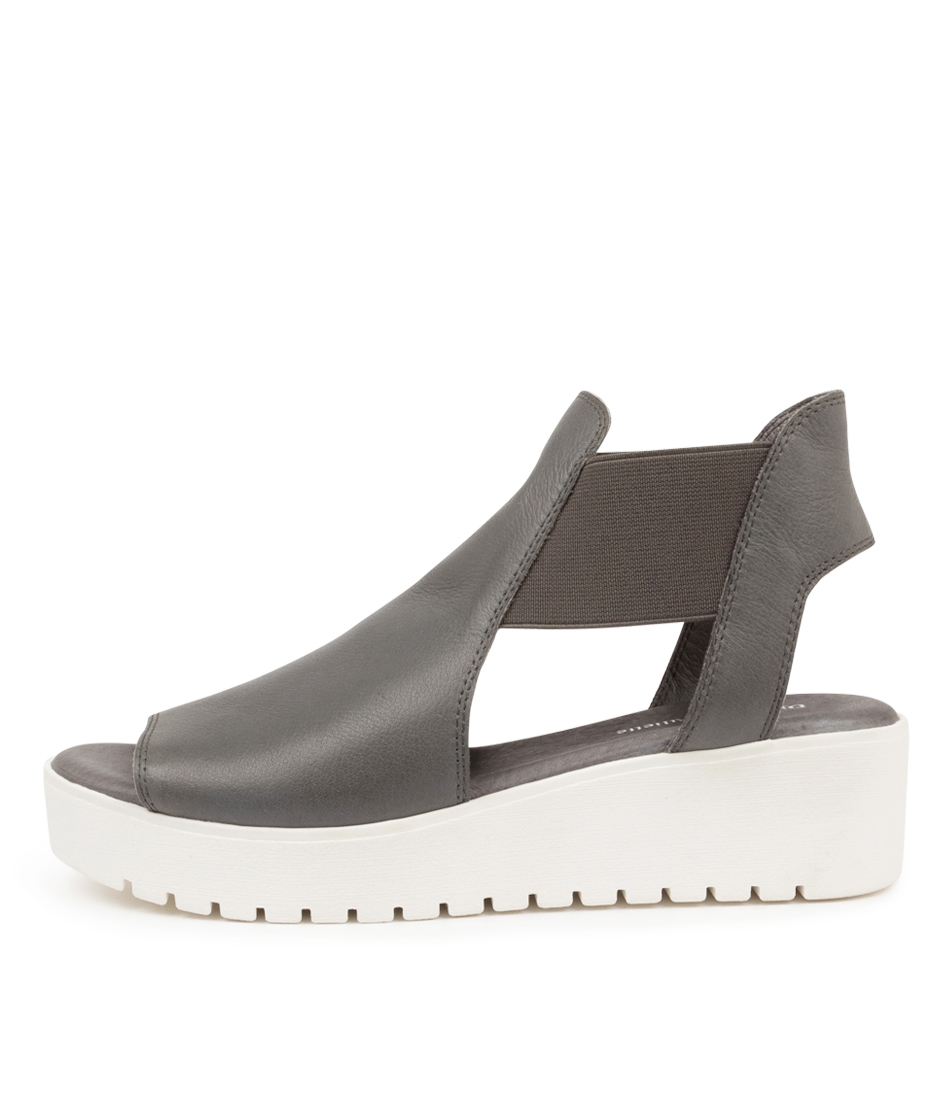 Buy Django & Juliette Ozie Dj Grey White Sole Flat Sandals online with free shipping