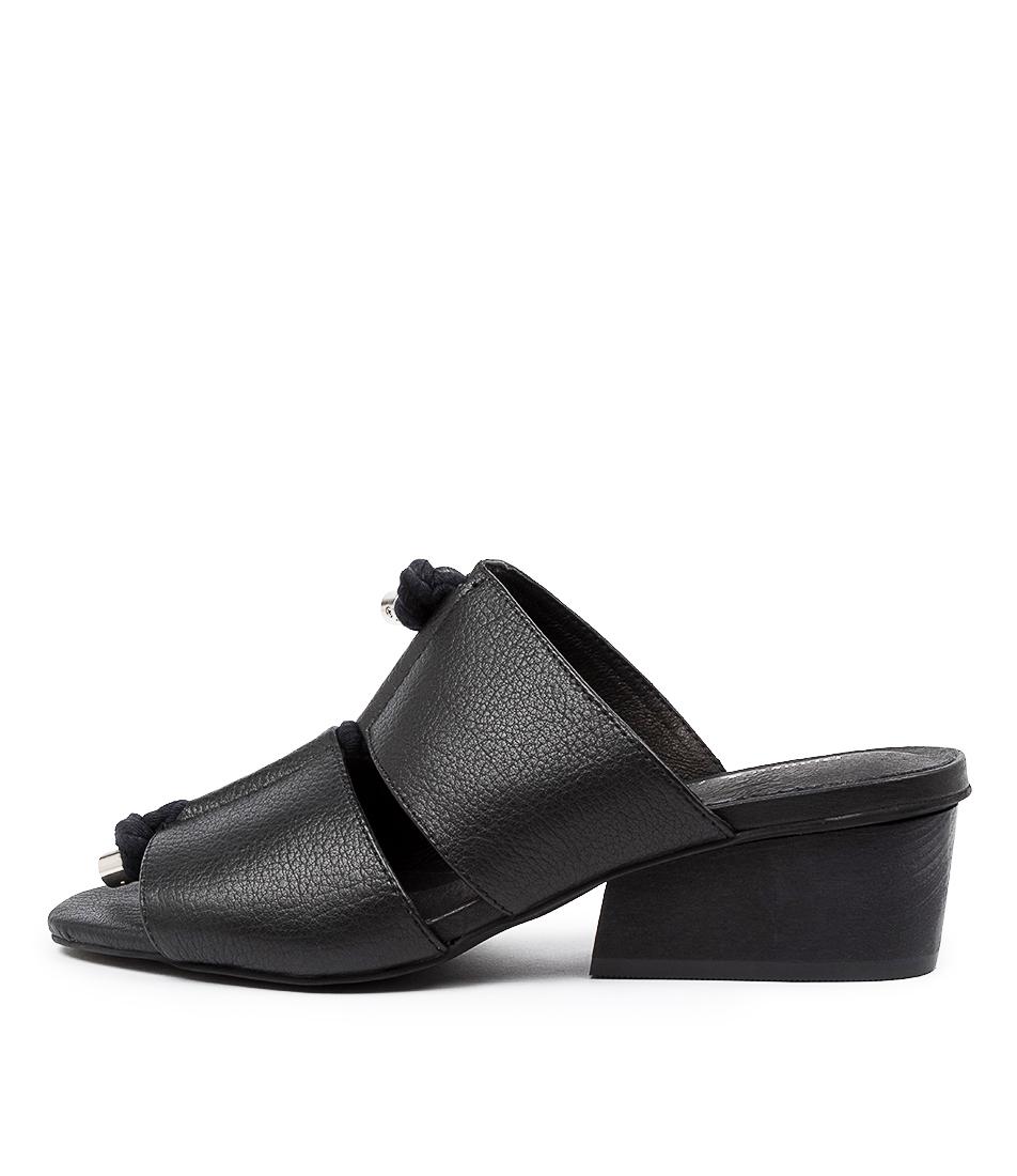 Buy Django & Juliette Tiney Dj Black Heel Heeled Sandals online with free shipping