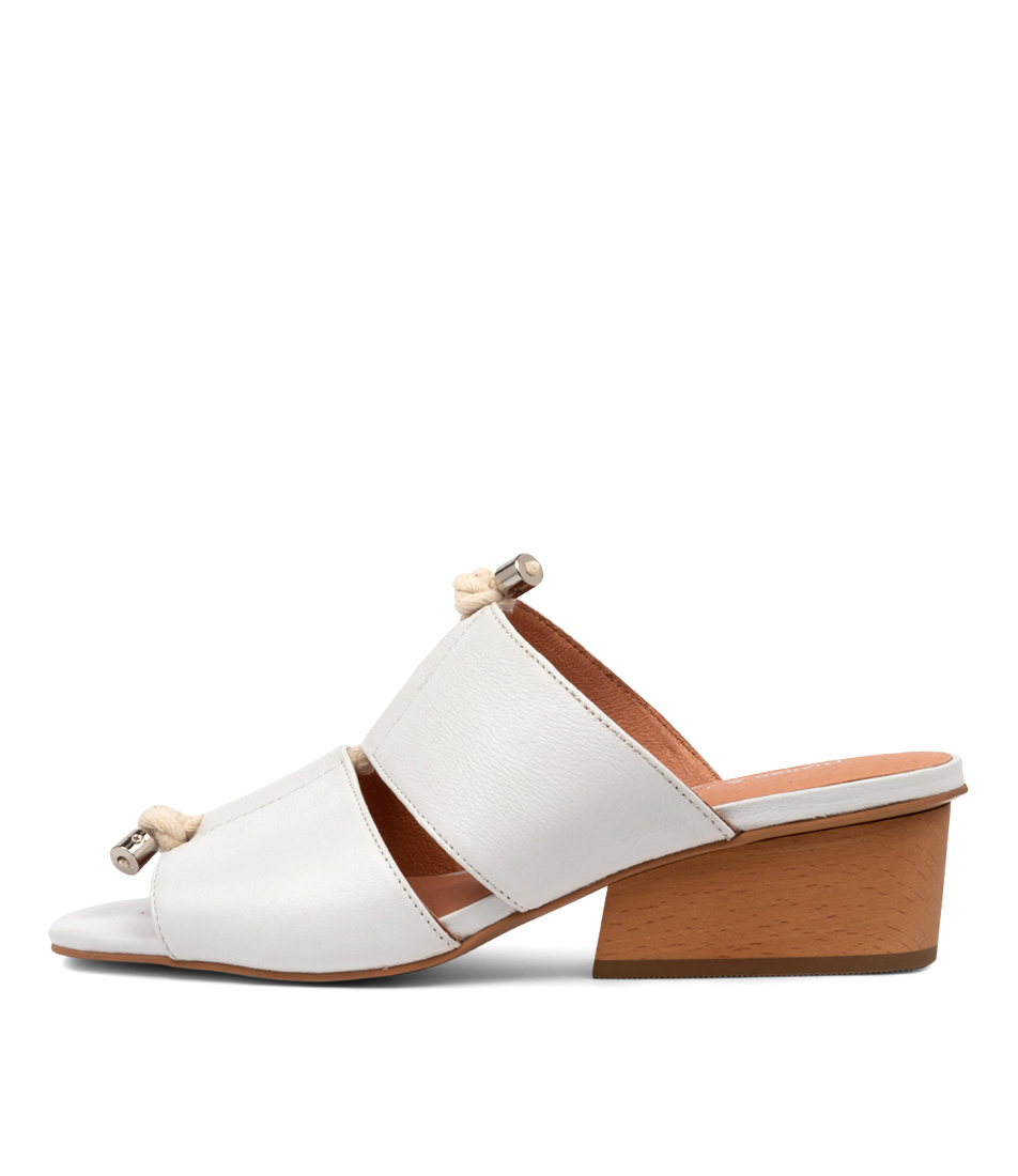 Buy Django & Juliette Tiney Dj White Heeled Sandals online with free shipping
