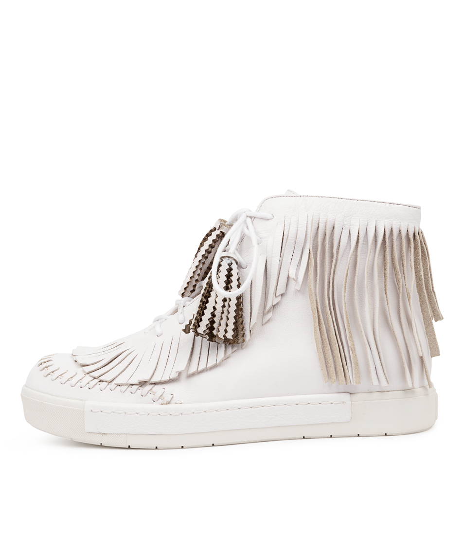 Buy Django & Juliette Vinner Dj White Ankle Boots online with free shipping